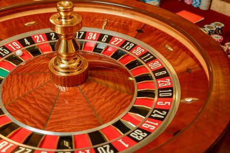 casino las vegas, roulette, poker and gambling with chips