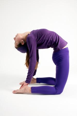 Ustrasana or camel pose in yoga Stock Photo - 13446384