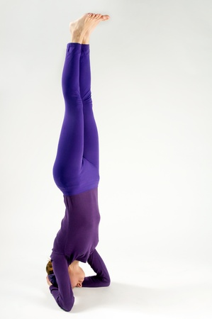 headstand: The yoga headstand shot in studio