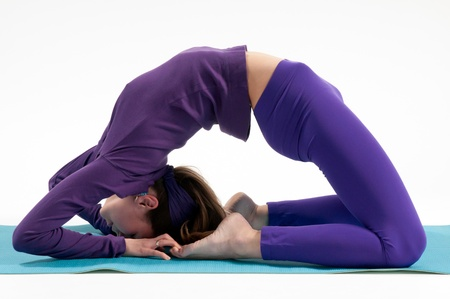 Kapotasana or the King Pigeon Pose in yoga photo