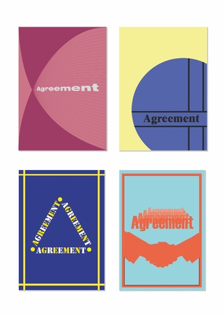set of the different names to the folders of agreement Illustration