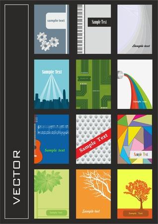 zestaw kolorowych ilustracji w różnych pionowych Styl