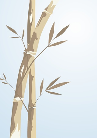 Abstract bamboo tree on a blue background