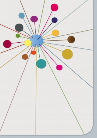 neutrons: ilustraci�n con esferas multicolores abstractos