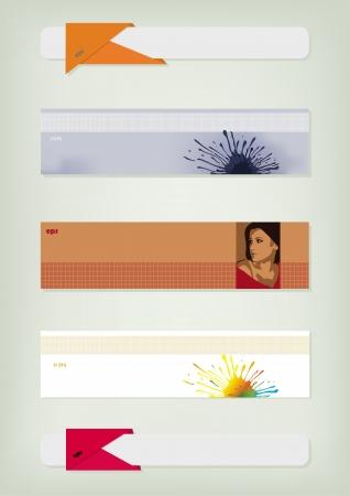 advertizing: Set from five colourful advertizing leaflets Illustration