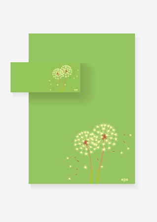 Two cards 3 D in a flower background