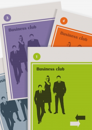 corporate set of magazines about business