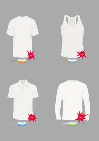 Set of  templates of design of a t-shirt Vector