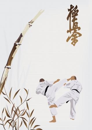 karate occupations Illustration