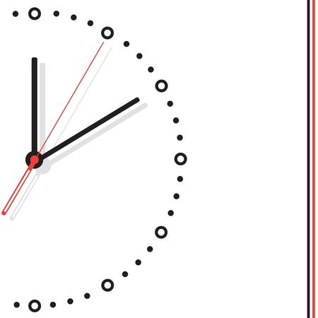 Vector illustration of hours on a white background