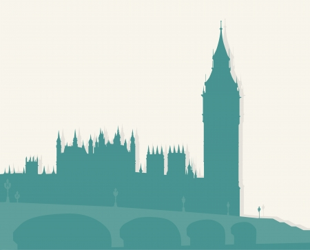 houses of parliament london: Famous architectural monuments and landmarks - London.