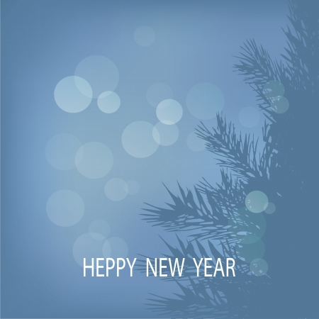 Happy New Year the Greeting card with an abstract background