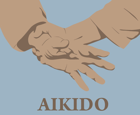 budo: Illustration, capture of hands in Aikido