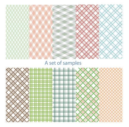 color samples: Set of original, color samples. Illustration