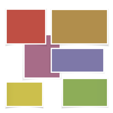 Five forms of different color. Illustration