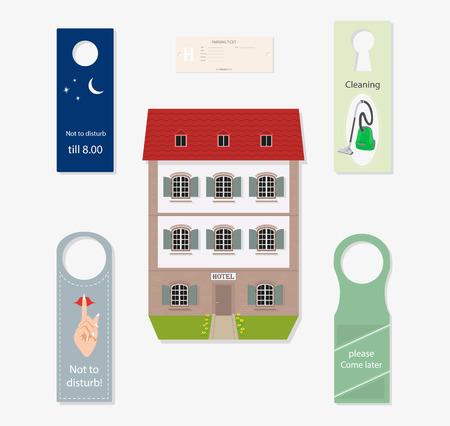 Set of subjects for hotel business. Illustration