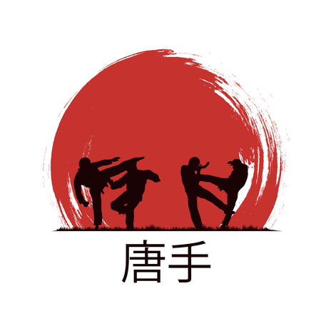 karate: Men are engaged in karate.