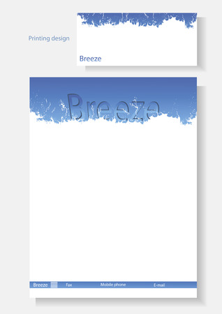Vector template of design of the booklet. Illustration