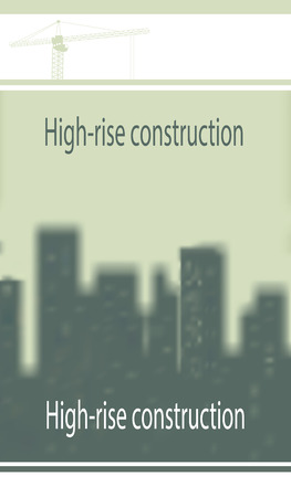 subject: Illustration, template on construction subject.