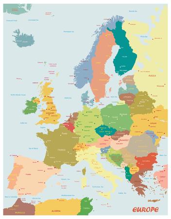 Carte originale de l'Europe.