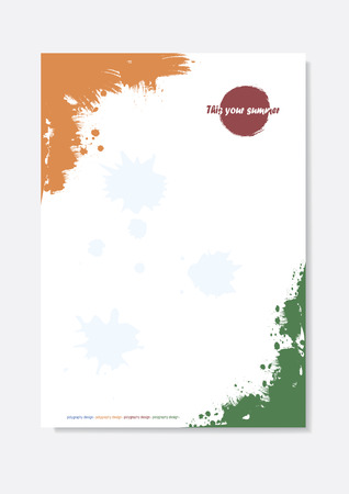 polygraphic: Modern abstract design poster, polygraphic template Illustration