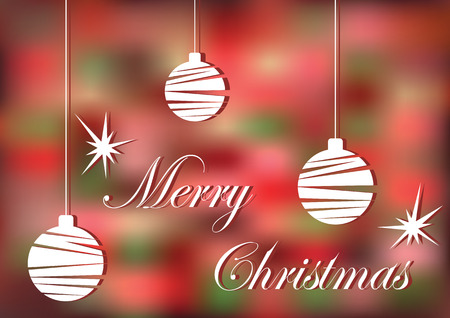 christmas greeting card: Bright Christmas greeting card.