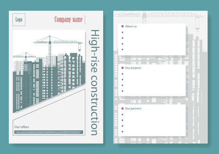 Template booklet for a construction company.