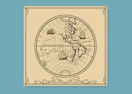 Le vecchie carte mare.