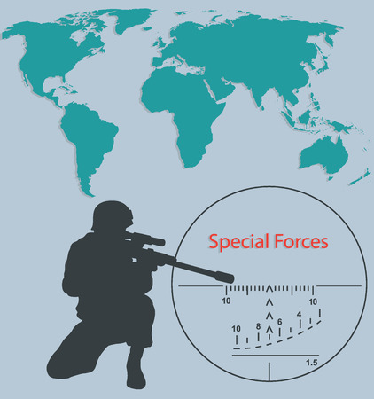 Booklet Special forces, sniper and world map.