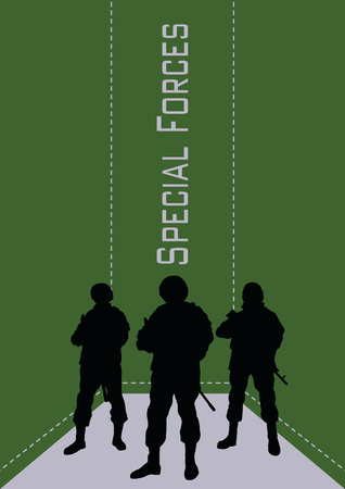 Illustration, booklet, special forces soldiers. Illustration