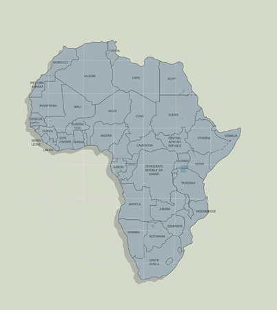 The original map of the African continent