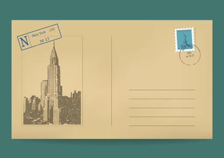 Old postal envelope.