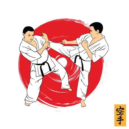 Karate vector illustration
