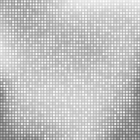 Stijlvolle zilveren achtergrond met kleine vierkantjes Stock Illustratie