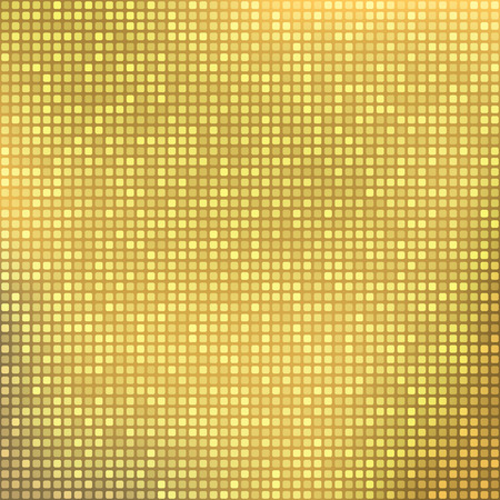 gold abstract: Stylish gold abstract background with tiny squares Illustration