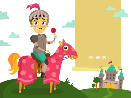 Illustration Of A Funny Knight On A Horse - Prince Charming ...