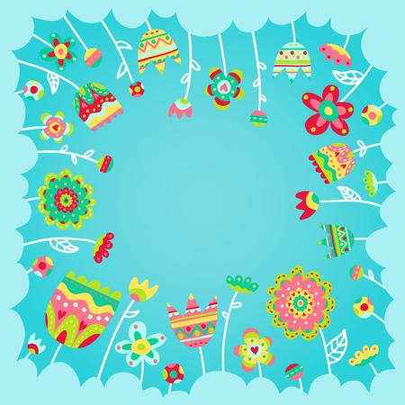 card background: Bella carta sfondo con fiori doodle