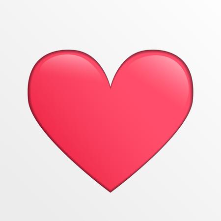 hintergrund liebe: Cute vector heart icon, pink creative illustration on light gray background, love theme element