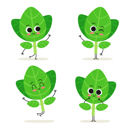 Oregano. Cute herb vector character set isolated on white Фото со стока - 125945578