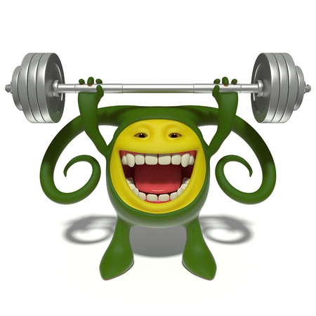 spurt: 3d image. The funniest character on an isolated white background.