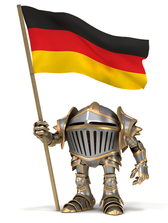 germanic people: Cartoon knight gnome. The isolated image on a white background.