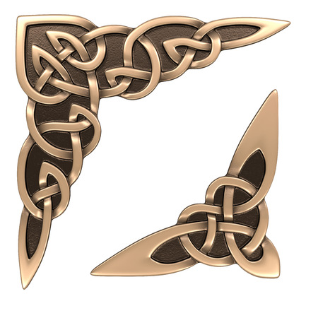 3d image Celtic ornament. Isolated white background. Фото со стока - 81354577