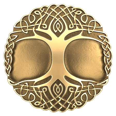 3d image Celtic ornament. Isolated white background.