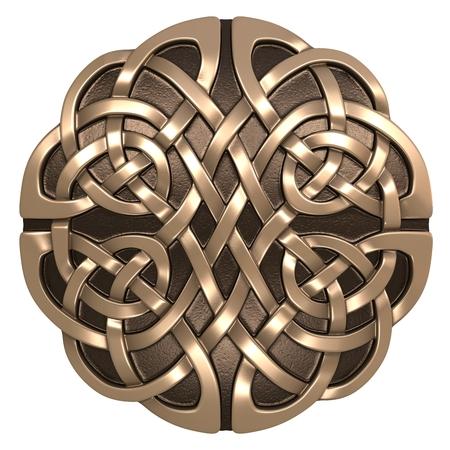 3D beeld Keltisch ornament. Geïsoleerde witte achtergrond.