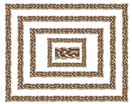 titanium: 3d image Celtic ornament. Isolated white background.