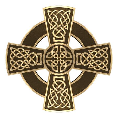 3D illustration Celtic ornament. Isolated white background. Stock Photo