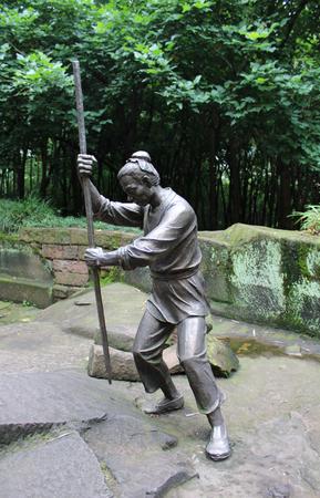 brazing: Chongqing hechuan fishing  stone sculpture