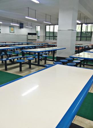 nonslip: Interior of a cafeteria
