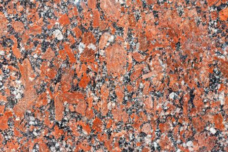 Red granite surface can be used as texture or background. Tile decoration of building