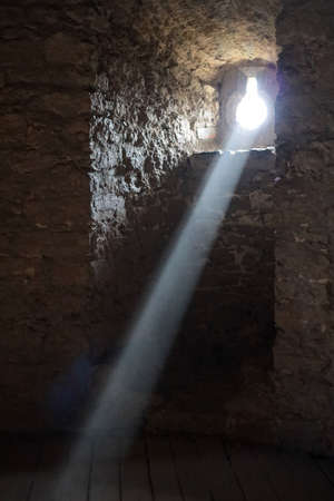light in the building of the Khotyn fortress of the X XVIII centuries with a fortification complex, One of the seven wonders of Ukraine